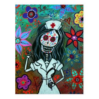 Día de la pintura muerta de la enfermera postal