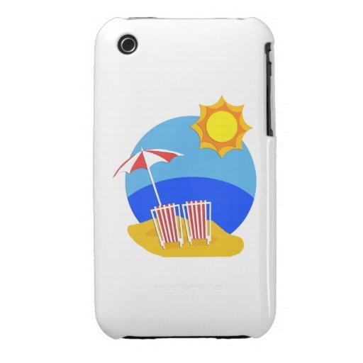 Día de la playa de la sol Case-Mate iPhone 3 cobertura