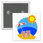 Día de la playa de la sol pins