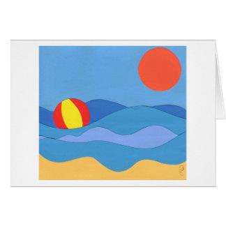 Día de la playa felicitación