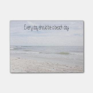 Día de la playa notas post-it®