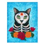 Día de la postal muerta del arte del gato del