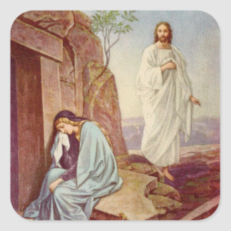 Día de la resurrección de Pascua Pegatina Cuadrada