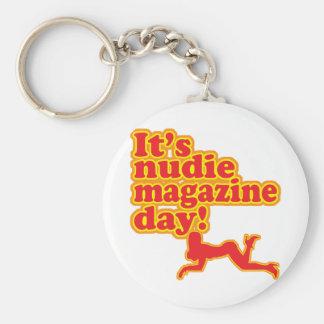¡Día de la revista de Nudie! Llavero Redondo Tipo Pin