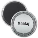 Día de la semana lunes imán