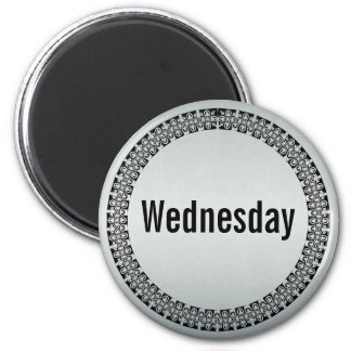 Día de la semana miércoles imán redondo 5 cm
