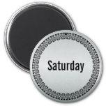 Día de la semana sábado imanes para frigoríficos