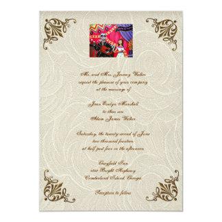 Día de la serenata de la invitación muerta del invitación 12,7 x 17,8 cm