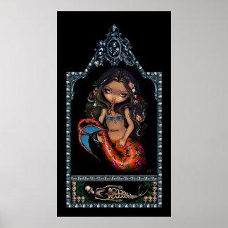 Día de la sirena de Sirena del La de la impresión  Póster