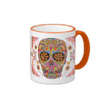 Día de la taza/del Dia muertos de los Muertos Mug Taza De Dos Colores