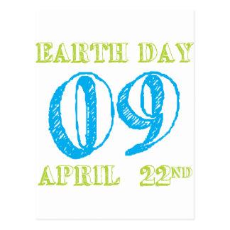 Día de la Tierra 2009 camisetas y regalos del 22 Tarjeta Postal