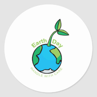 Día de la Tierra 2009 Etiqueta Redonda