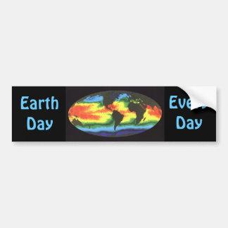 Día de la Tierra 2012 - Temperatura superficial de Etiqueta De Parachoque