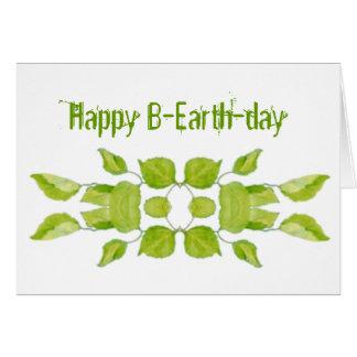 Día de la Tierra 22 de abril divertido, cumpleaños Tarjeta De Felicitación