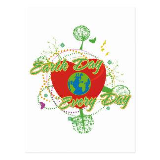Día de la Tierra abstracto Postal