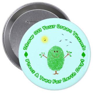 Día de la Tierra ambiental Pin Redondo De 4 Pulgadas