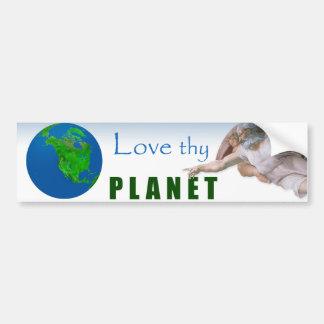 Día de la Tierra - ame Thy planeta Pegatina De Parachoque