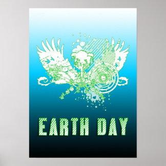 Día de la Tierra: árbol de alta fidelidad Posters