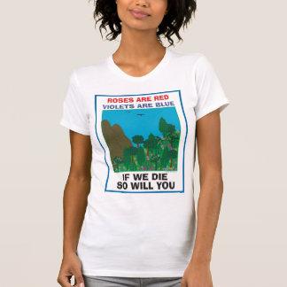 Día de la Tierra. Árbol Hugger. Plante un árbol. Camiseta