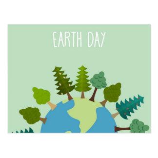 Día de la Tierra - árboles alrededor de The Globe Tarjetas Postales