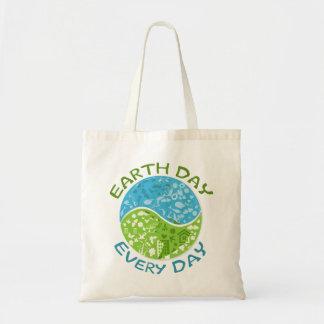 Día de la Tierra cada día Bolsa Tela Barata