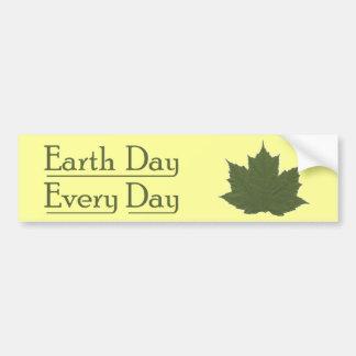 Día de la Tierra cada día Etiqueta De Parachoque