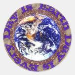 Día de la Tierra cada día Etiquetas Redondas