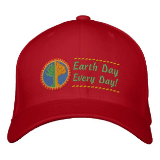 Día de la Tierra cada día Gorra De Béisbol Bordada