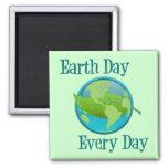 Día de la Tierra cada día Imanes Para Frigoríficos