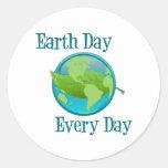 Día de la Tierra cada día Pegatina Redonda