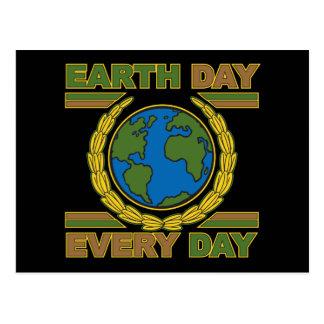 Día de la Tierra cada día Tarjeta Postal