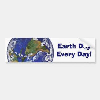 Día de la Tierra cada pegatina para el parachoques Pegatina De Parachoque