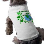 Día de la Tierra Camisa De Mascota