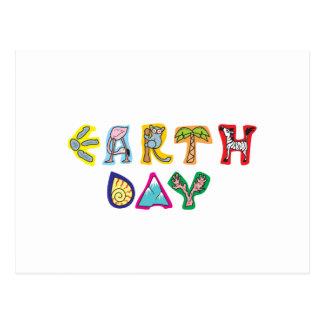 Día de la Tierra colorido fresco Tarjetas Postales