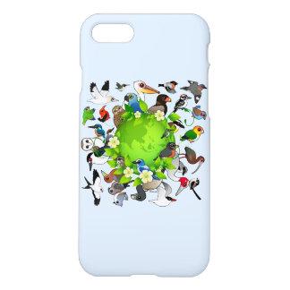 Día de la Tierra de Birdorable Funda Para iPhone 7