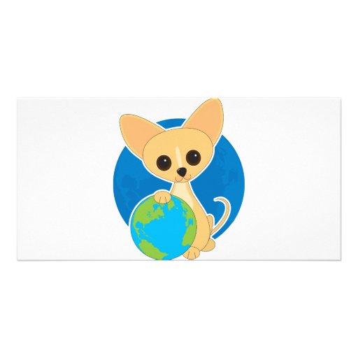 Día de la Tierra de la chihuahua Tarjetas Con Fotos Personalizadas