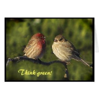 Día de la Tierra de los Lovebirds Tarjeta Pequeña