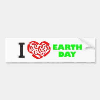 Día de la Tierra del amor Pegatina Para Auto