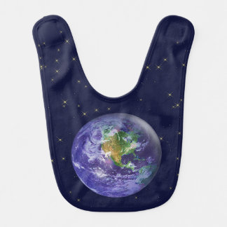Día de la Tierra del globo 3D Baberos De Bebé