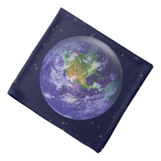 Día de la Tierra del globo 3D Bandanas