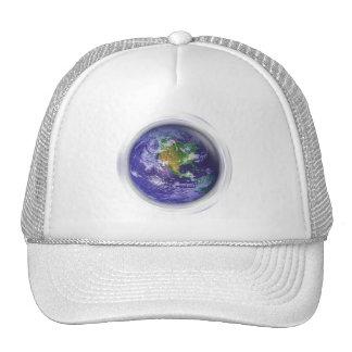 Día de la Tierra del globo 3D Gorra