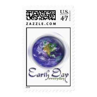 Día de la Tierra del globo 3D Sellos