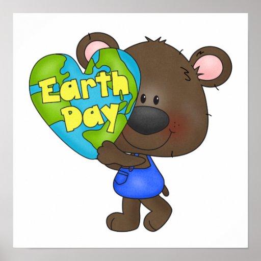 Día de la Tierra del oso Poster