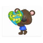 Día de la Tierra del oso Tarjeta Postal