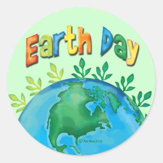 Día de la Tierra del PEGATINA