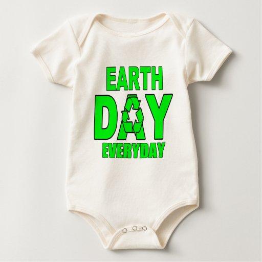 Día de la Tierra diario Body Para Bebé