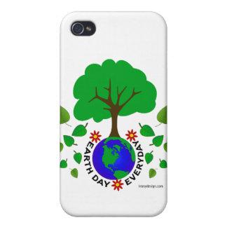 Día de la Tierra diario iPhone 4/4S Funda
