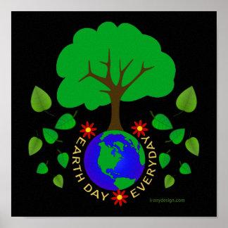 Día de la Tierra diario Poster
