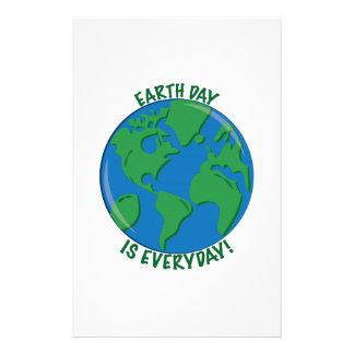 Día de la Tierra diario Papelería Personalizada