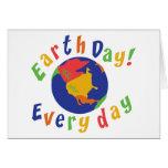 Día de la Tierra diario Tarjeta De Felicitación